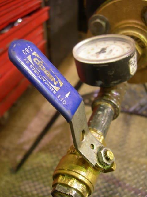 Pressure testing for plumbing