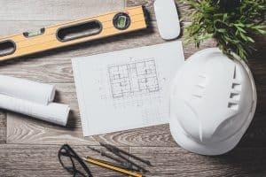 רקע של כלי עבודה לעובד בניין