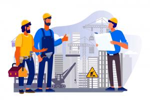 אנימציה של עובדי בניין